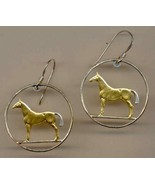 Irish 20 pence, 2 Toned Gold on Silver cut coin pendant earrings - $115.00