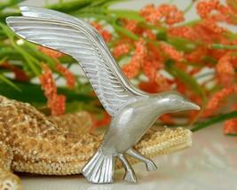 Vintage seagull in flight bird brooch pin giovanni silver tone thumb200