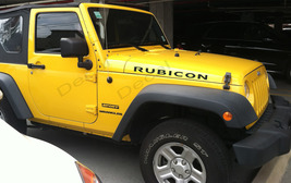 set of Jeep Rubicon Hood Decals TJ Style   - $22.50