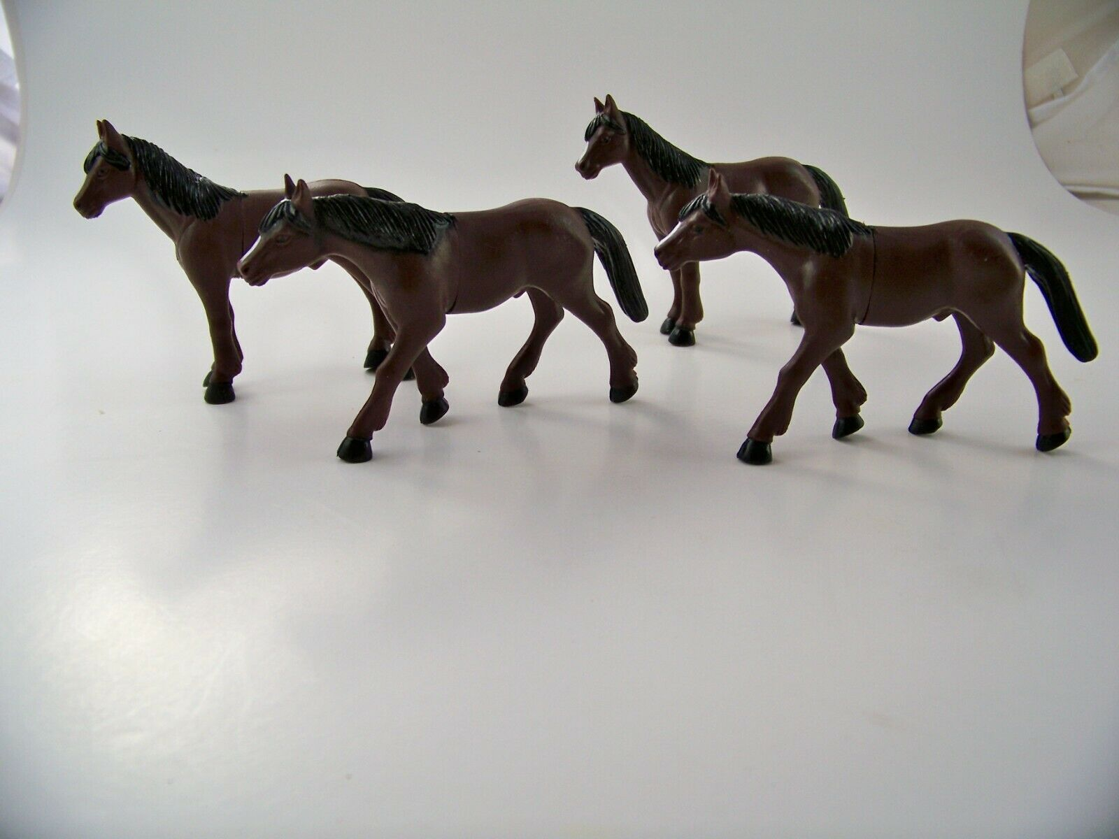 Primary image for Snicklefritz 4 Farm Horses Barn Animals Ranch Toys Kids Educational Figurines