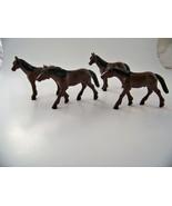 Snicklefritz 4 Farm Horses Barn Animals Ranch Toys Kids Educational Figurines - $5.97
