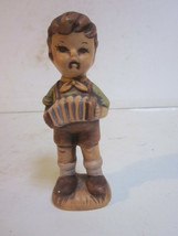 VINTAGE 1981 B. SUMME HAND PAINTED CERAMIC BOY PLAYING ACCORDIAN FIGURINE - $9.99