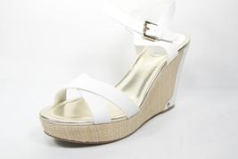 Liz Claiborne Cece White Wedge Sandals Womens 9.5 M - $38.69