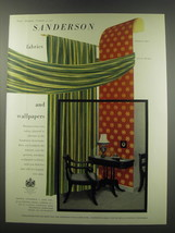 1957 Sanderson Wallpaper No. 57537 and Fabric No. BR 400/4 Advertisement - $14.99