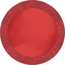 Glitz Red 14 inch Round Placemats with Glitter Border/Case of 96 - $108.71