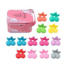 Random of Children Hairpins Lovely Hairpin Suit and Jewelry Box, Cherry Clips image 2