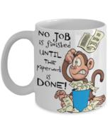 Funny Office Worker Work Boss Coffee Mug Gift Monkey Business Paperwork - $14.84+