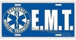EMT Emergency Medical Technician License Plate - $4.94