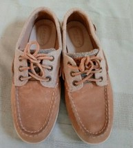 Sperry top spider leather womens boat shoes 7.5M - $13.09