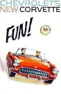 Primary image for 1956 Chevrolet Corvette - Promotional Advertising Poster