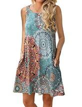 Unibaby Women's Summer Dress Floral Print Bohemian Cotton Sleeveless Tun... - $14.99