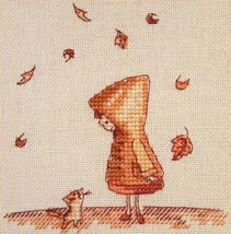 Cross Stitch Hand Embroidery Kit Cute Girl - $8.54