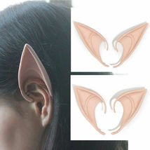 Short Prosthetic Fairy Pixie Elf Ear Halloween - 1x w/Random Color and Design image 6
