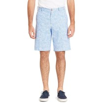 IZOD Mens Shorts Blue 30 32 36 40 38  Sandy Bay Seersucker Flat Front Ch... - $19.99