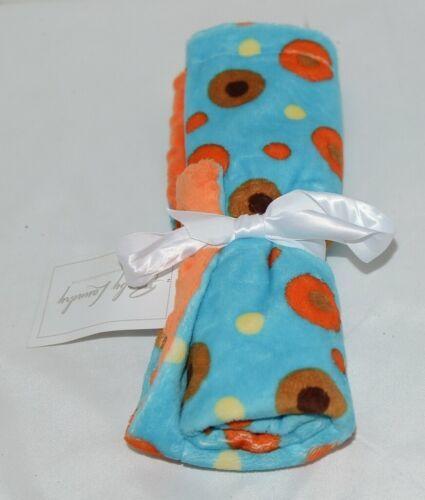 Baby Laundry Minky Blanket Orange Brown Yellow Unisex