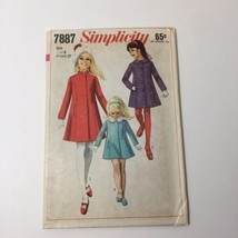 Simplicity 7887 Size 8 Girls' Coat with Detachable Collar - $11.64