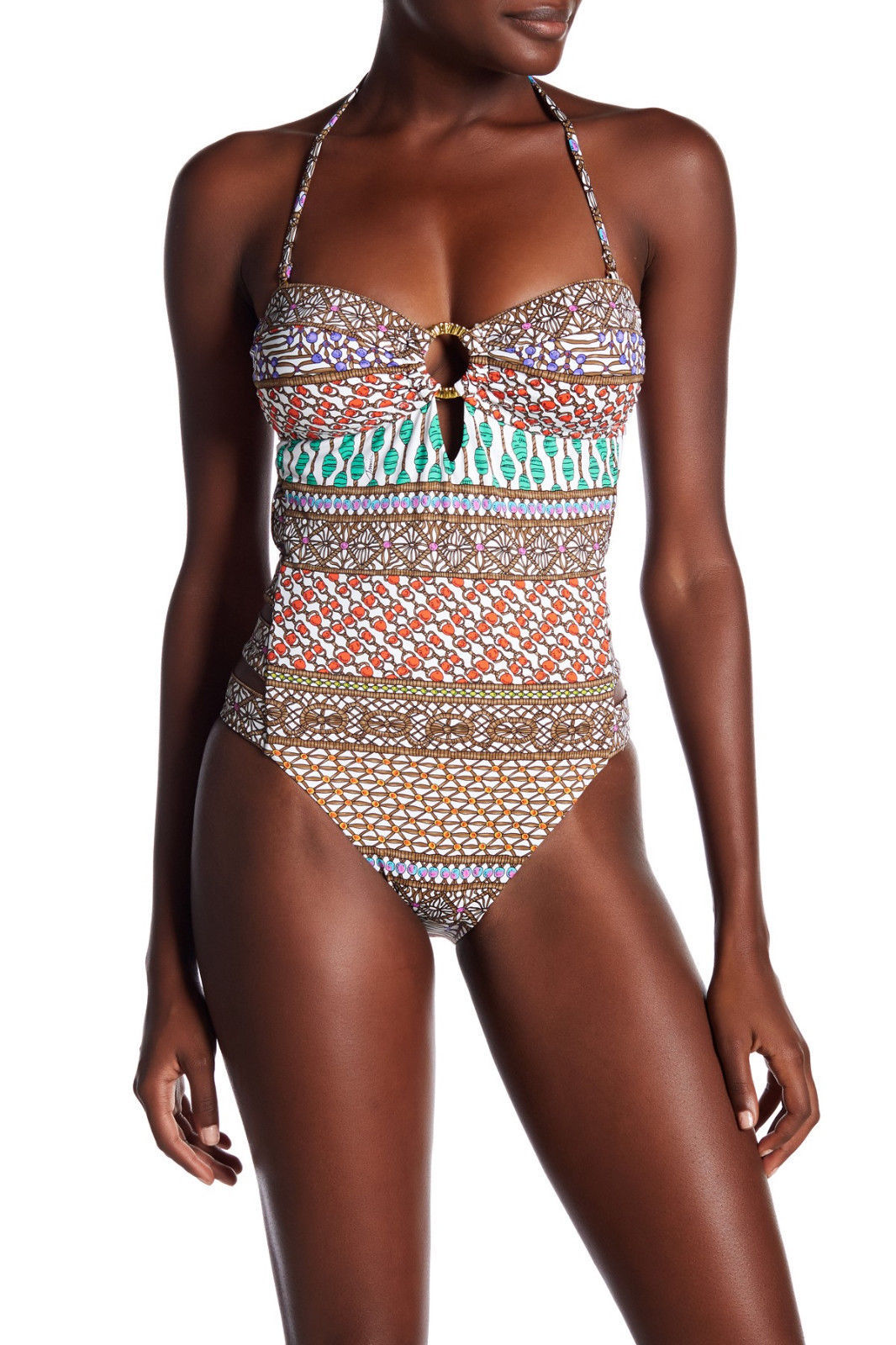 715ee43a5a NEW Trina Turk Macrame Mix Bandeau One piece and 50 similar items