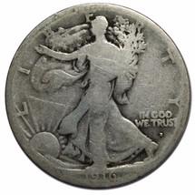 1916D Walking Liberty Half Dollar 90% Silver Coin Lot# EA 101