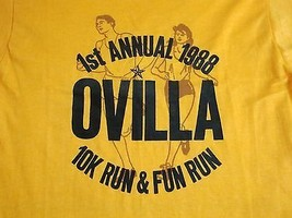 Vintage Ovilla 10K 7 Run Run Marathon Road Race 1988 80's Thin T Shirt S - $20.54