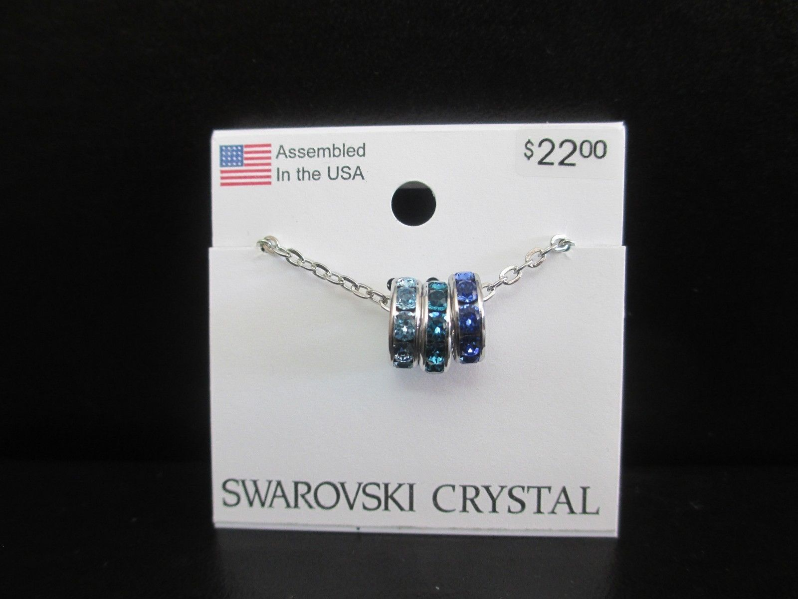 e876006b0 Swarovski Crystal Necklace - Three Rings in and 50 similar items