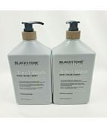 2X Blackstone Mens Grooming SANDALWOOD 3-in-1 Hair Face Body Wash 32oz B... - $44.95