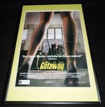 The Getaway 2003 PS2 Framed 12x18 ORIGINAL Advertisement  - $32.36