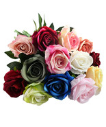 Artificial Flannel Rose Flowers Elegant Beautiful European Rose Bouquet ... - $4.93