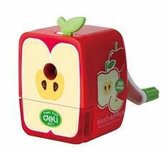 Manual Pencil Sharpener, Creative Pencil Sharpener for Kids [Apple] - £10.10 GBP