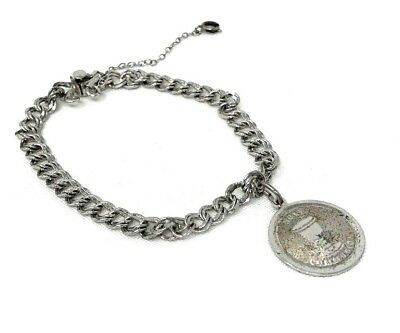 Vintage ELCO  Stamped Sterling  Ladies Bracelet with  Holy Communion Charm