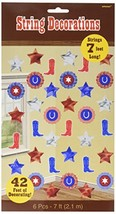High Riding Western Party Boots and Stars Doorway Curtain Decoration, Paper, 7 F - $2.87