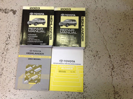 2003 Toyota Highlander Suv Truck Service Shop Repair Manual Set W Ewd + Collisio - $316.75