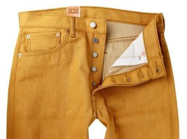 Levi's 501 Men's Original Fit Straight Leg Jeans Button Fly Gold 501-1817 image 2