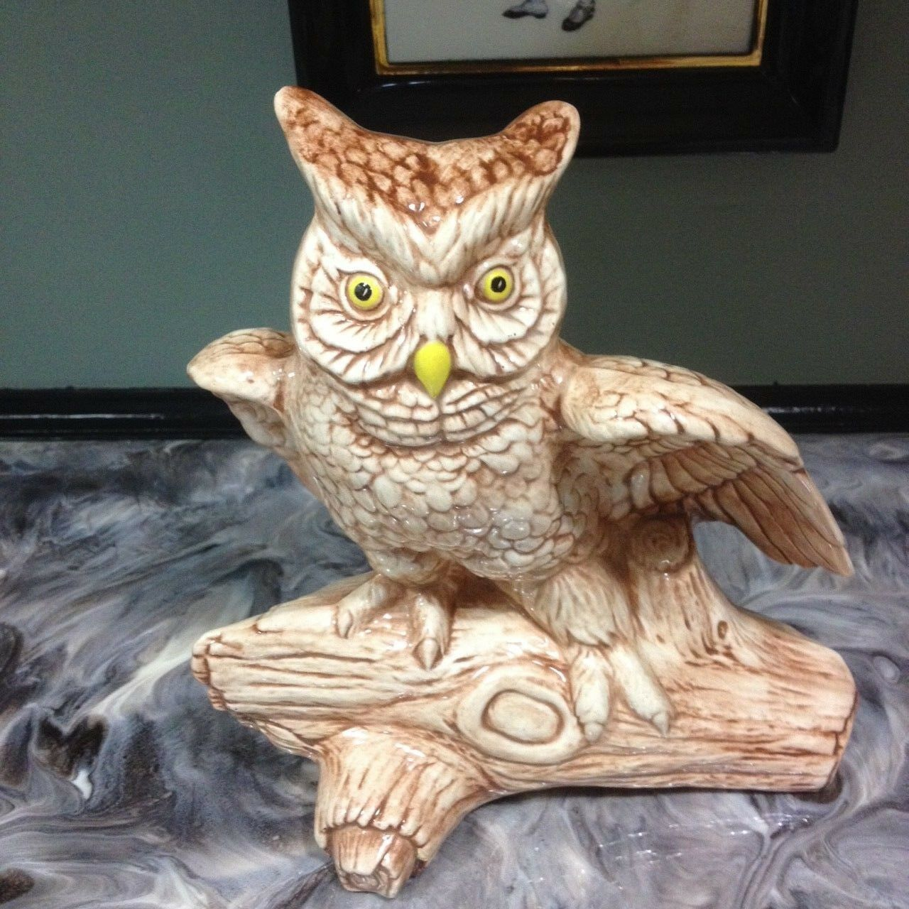 Primary image for VINTAGE 1980 MACKY MOLD CERAMIC HAND PAINTED OWL