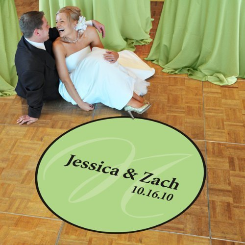 "Standard (39"") Elegance Wedding Dance Floor Decal"