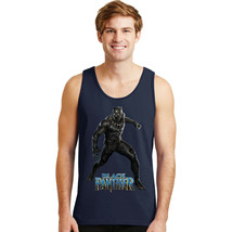 BLACK PANTHER SUPERHERO MOVIE COMICS GRAPHIC NAVY BLUE TANK TOP 195 29.9... - $15.99