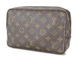 Authentic LOUIS VUITTON Trousse Toilette 23 Monogram Cosmetics Pouch Bag... - $149.00