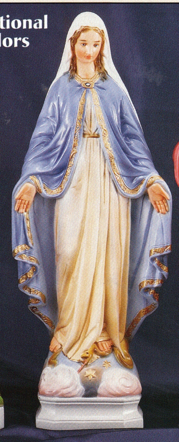 Our lady of grace 24 inch colored concrete