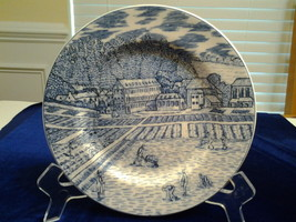 """American Atelier at Home,-Blue Toile 5217 Stoneware Salad Plate 8"""" Diame... - $6.95"""