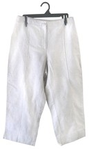 Capri Pants 10 Cropped Linen Long Shorts Women Liz Claiborne Michaela Beige - $5.00