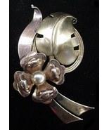 Vintage Harry Iskin 12K Gold Filled Flower Pin Brooch NICE - $17.50