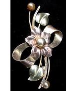 Old Signed Bal-Ron 12k Gold Filled Flower Pin Brooch - $14.50