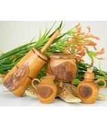 Vintage Folk Art Kitchen Miniature Wood Bark NC Churn Jug Pitcher Pot - $39.95