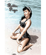 Betti Page on the Beach Pinup Poster - $5.90