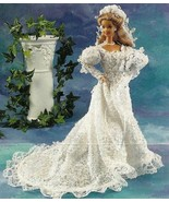 Y704 Crochet PATTERN ONLY Pearls & Lace Wedding... - $18.45
