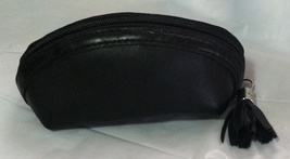 NEW ROLFS BLACK ZIP-AROUND COIN PURSE LEATHER - $12.99