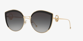 FENDI FF0290 807/9O Black/Gold Butterfly Sunglasses 58mm NEW AUTHENTIC  - $204.30