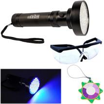 HQRP 100-LED Ultra Violet UV BlackLight Light Flashlight + Protecting Gl... - $19.95