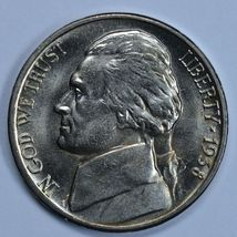1938 P Jefferson uncirculated nickel BU 5 full steps - $35.00