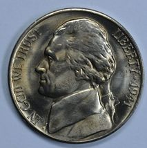 1941 D Jefferson uncirculated nickel BU - $17.00