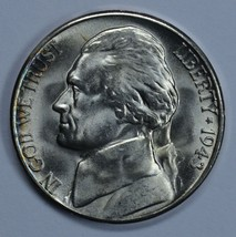1943 S Jefferson uncirculated silver nickel BU  - $20.00